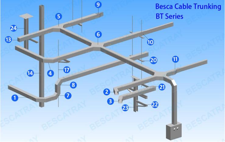 槽式桥架装配图