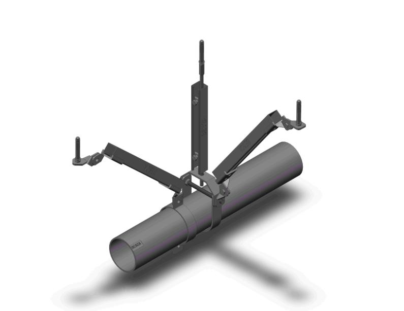 单管-纵向抗震支架