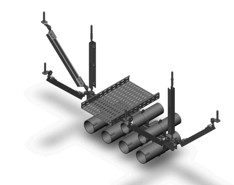 多管道桥架组合式抗震支架