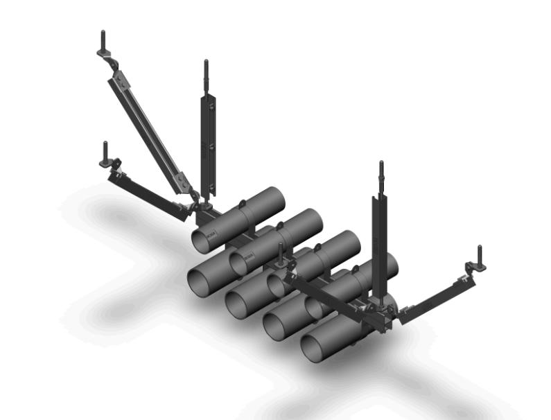 多管双向抗震支架