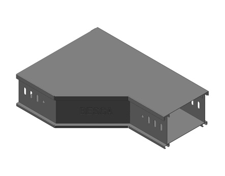 BT8-LR 铝合金槽式桥架左变径